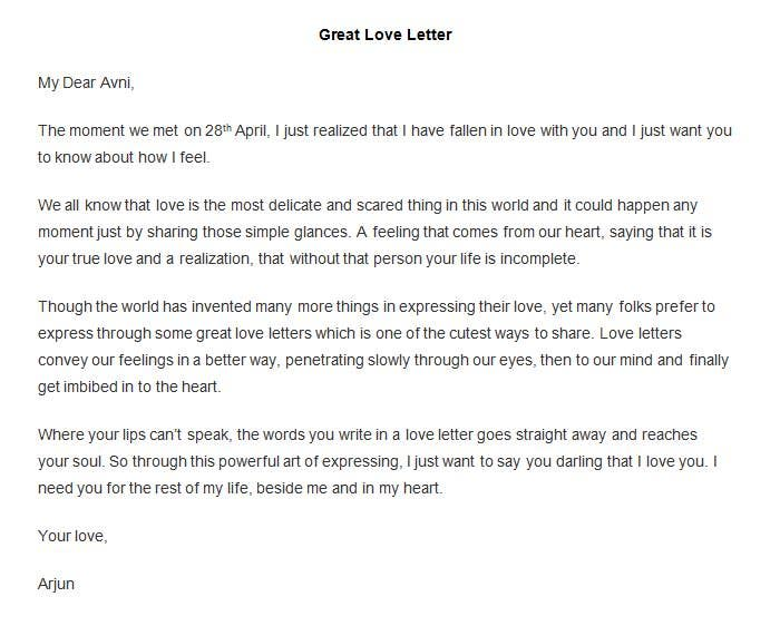 best free love letter templates samples free premium templates