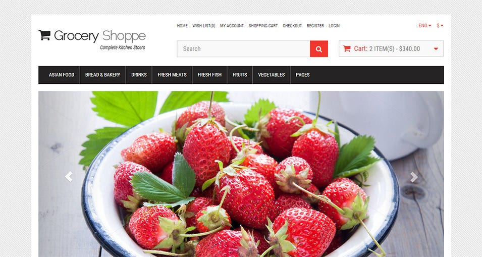 grocery jewelry e commerce bootstrap