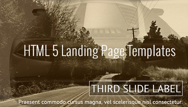 html 5 landing page templates