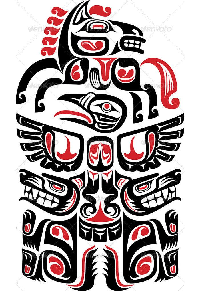 haida style tattoo design 2