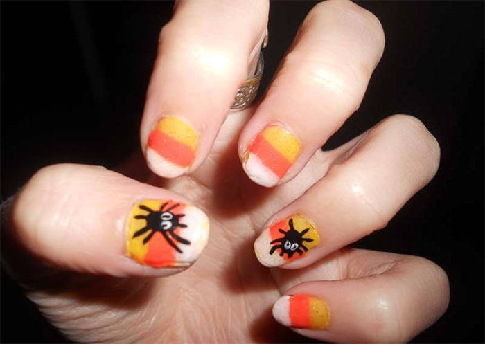 hallowwen nail art idea