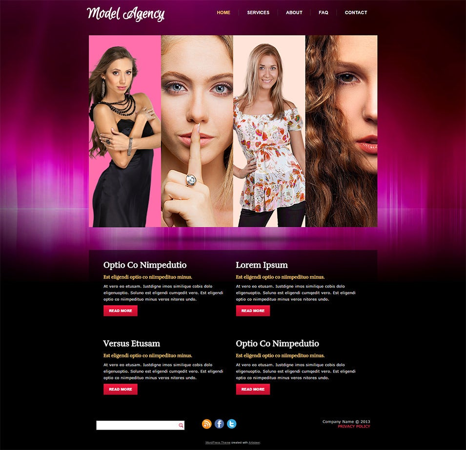 Model Agency - WordPress Theme
