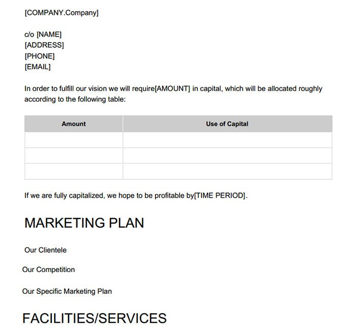 Hotel Business Marketing Proposal Template