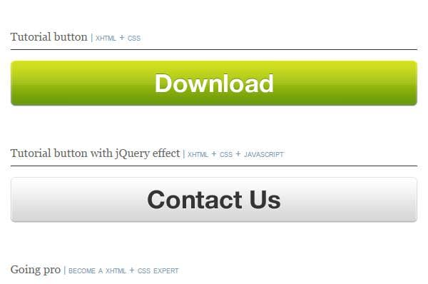 how to create jquery button animations