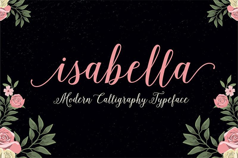 isabella wedding font