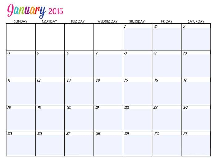 january 2015 calander editable