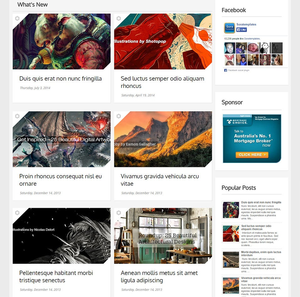 30+ Best Gallery Style Blog Templates & Themes | Free & Premium ...
