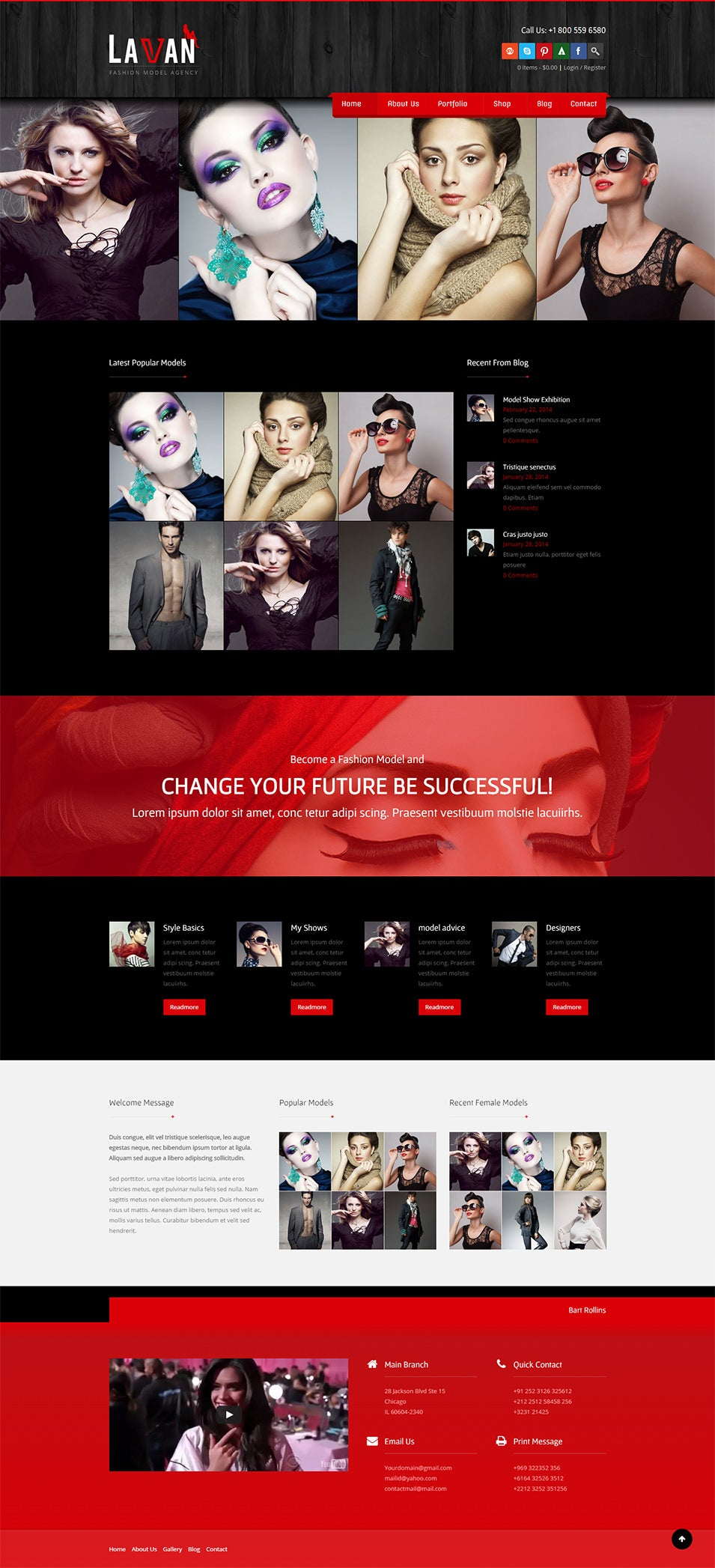 fashion Model Agency Wordpress Theme