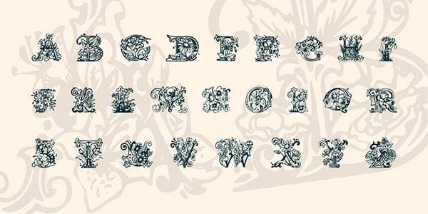 lime blossom caps font