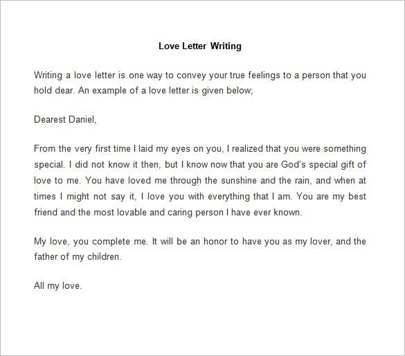 love letter writing
