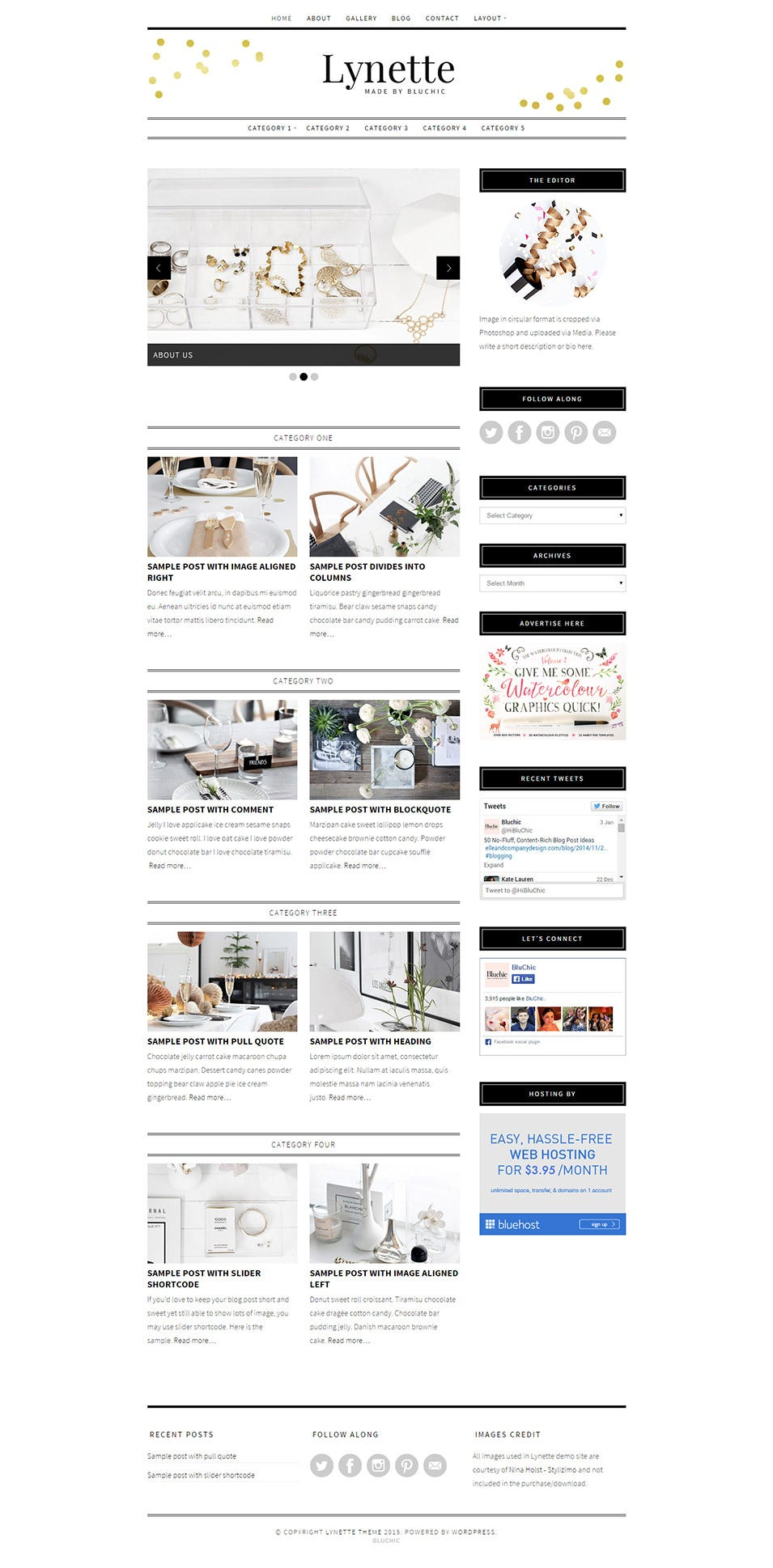 Lynette WordPress Theme