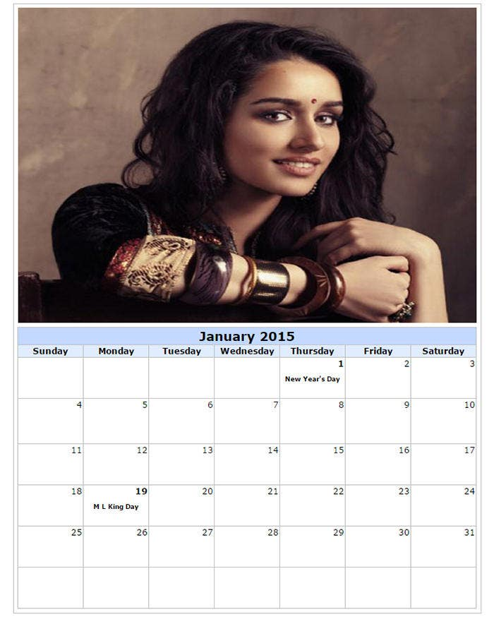 make your own photo calendar