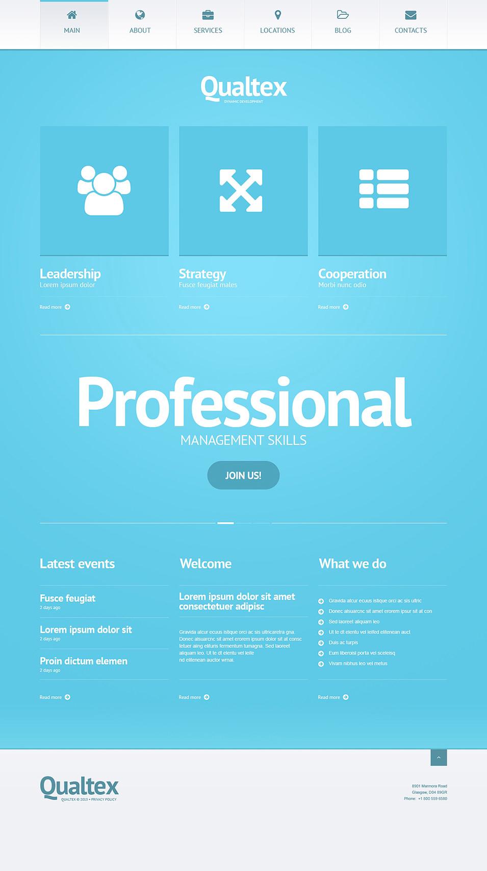 Management Development Company WordPress Theme