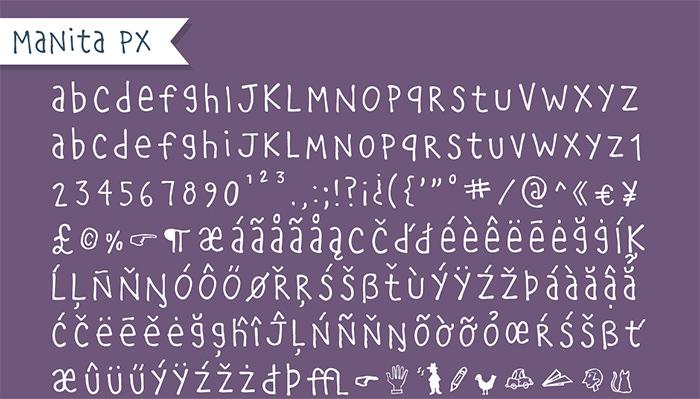manita px handwriting font