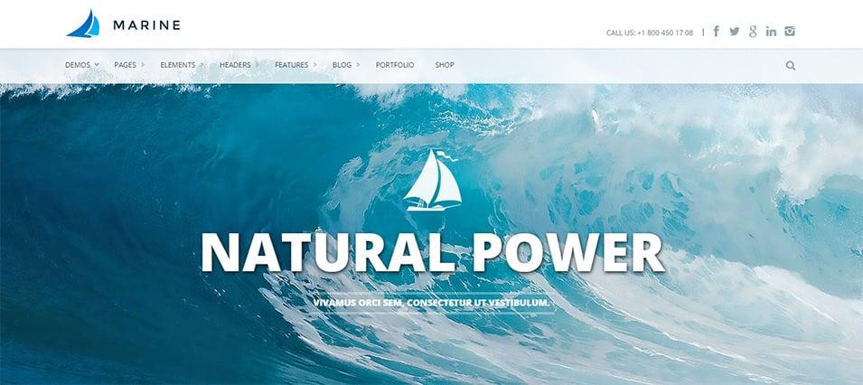 marine responsive multipurpose html5 template