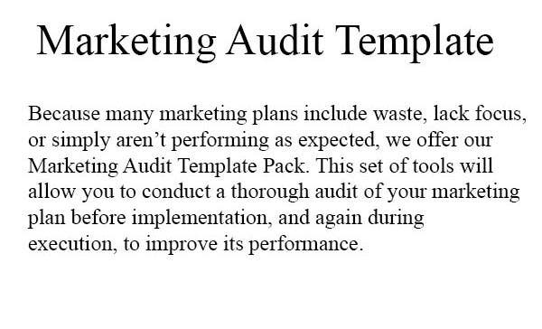 marketing audit template pack1