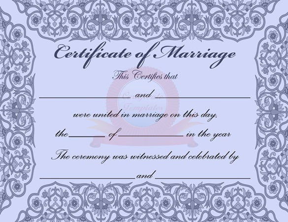 marriage certificate word document