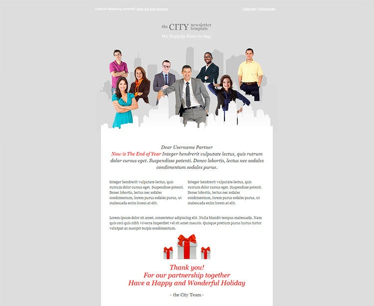 metro business email template