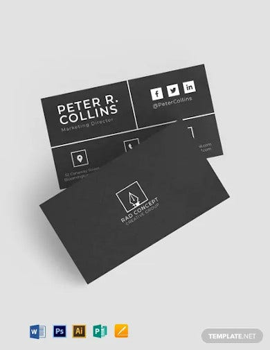 metro dark corporate business card template
