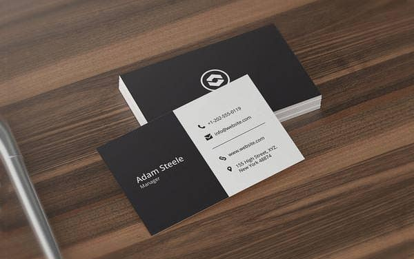 53 best premium business card template designs free premium minimal business card template fbccfo Gallery