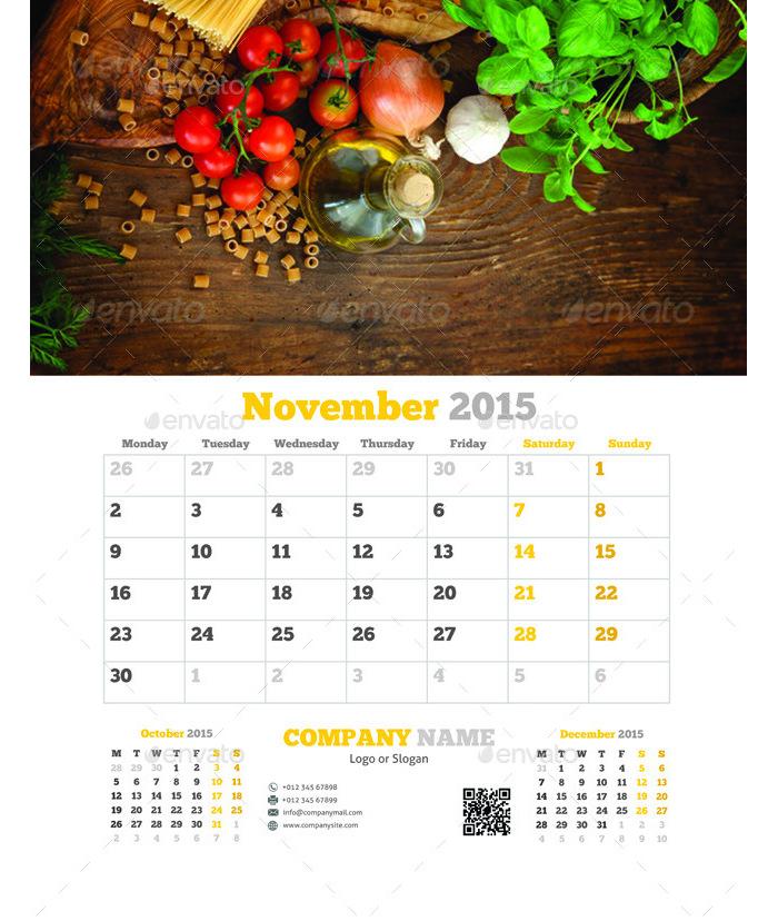 minimal calendar templates