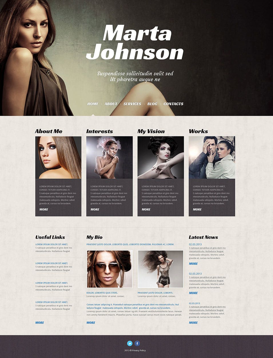 model agency wordpress theme1
