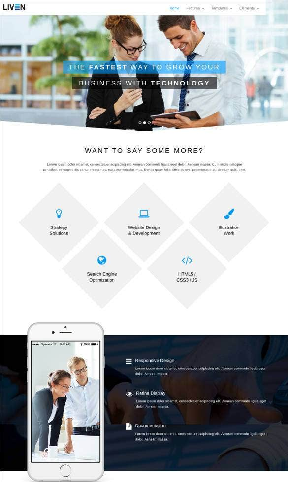 modern business bootstrap template1