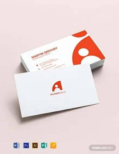 modern ceo business card template