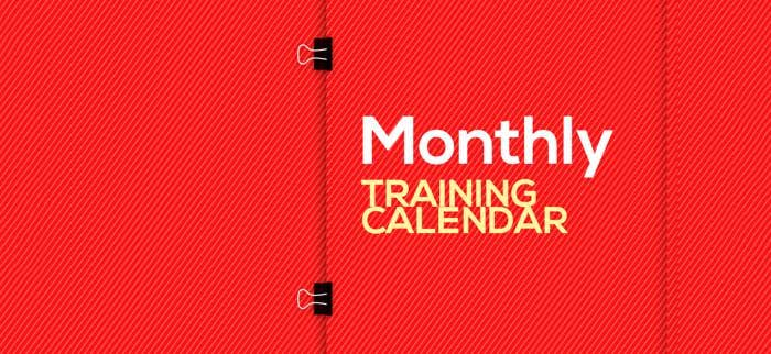 monthly training calendar