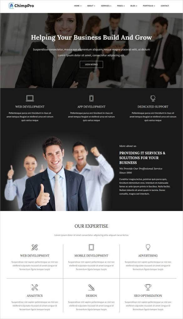 multipurpose business bootstrap template11
