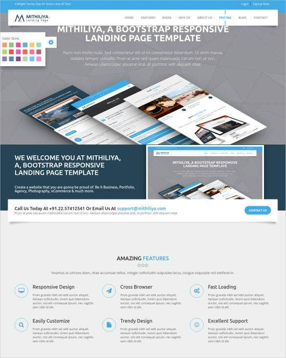 30 html5 landing page themes templates free premium for Wordpress splash page template