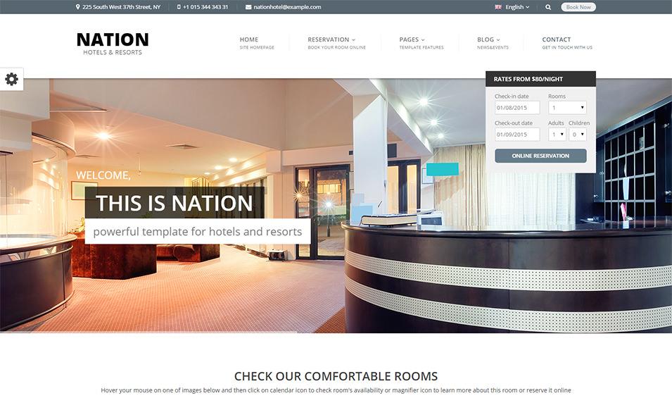 45+ Best Hotel WordPress Templates & Themes | Free & Premium Templates