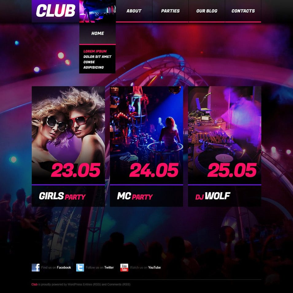 night club wordpress theme1