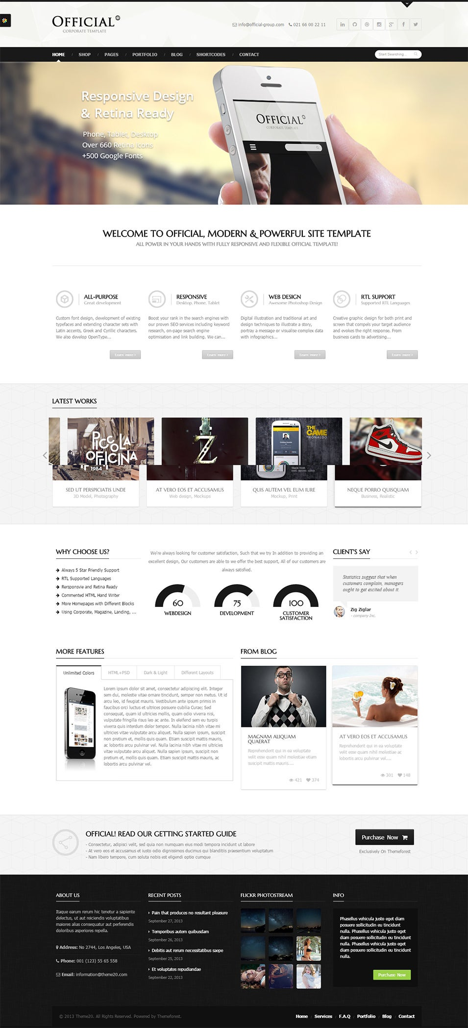25 Modern Html5 Website Templates Amp Themes Free