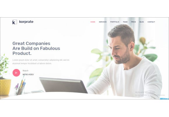 one page corporate html5 template
