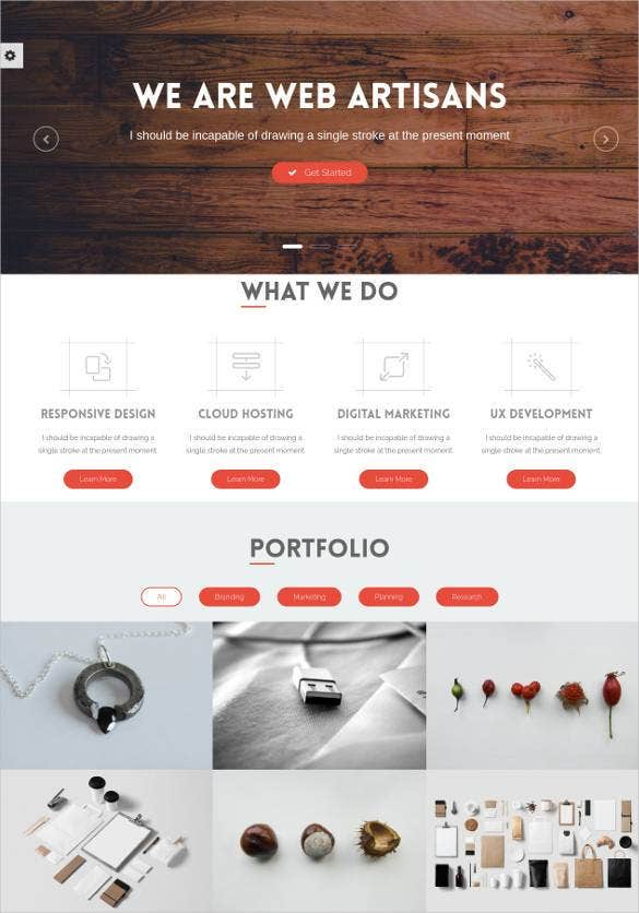 plain portfolio business bootstrap template1