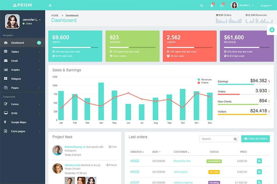 42 bootstrap admin themes templates free premium for Simple html admin template