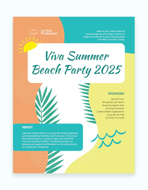 13 summer event flyers psd ai indesign free premium templates