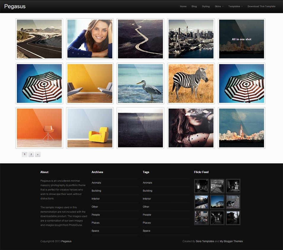grid style blogger templates - Roho.4senses.co