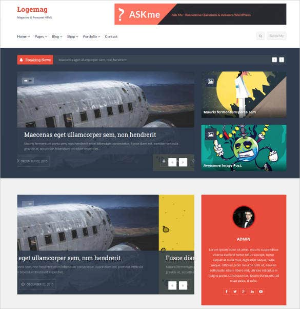 personal blogging html bootstrap blog template