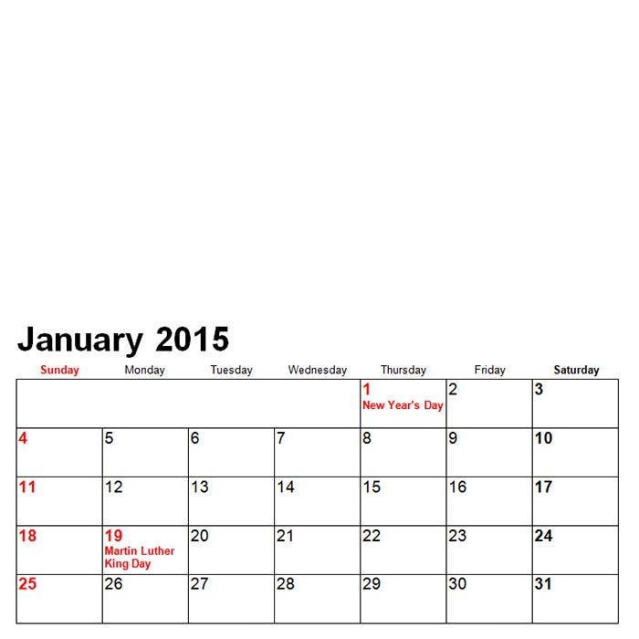 photo calendar 20151