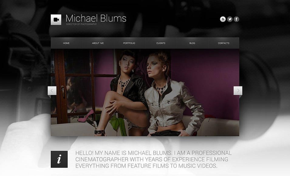 Photographer's Works WordPress Theme