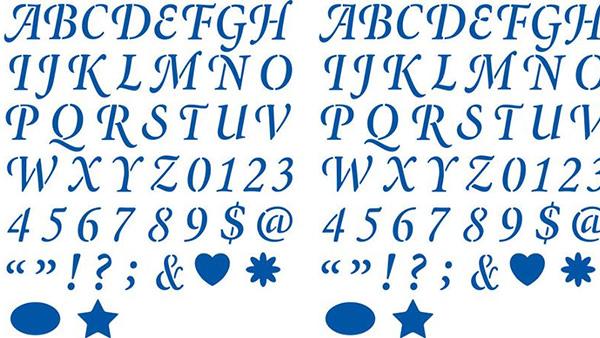 plaid letter stencils wedding day