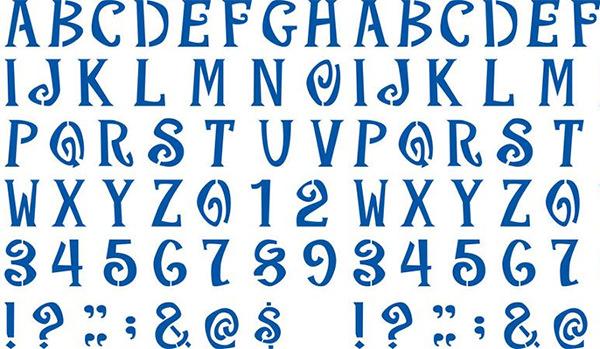 plaid letter stencils