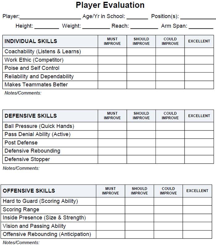 25+ Free Basketball Evaluation Forms | Free & Premium Templates