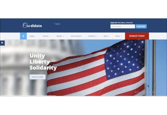 political nonprofit drupal theme