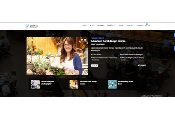 powerful education courses online drupal theme