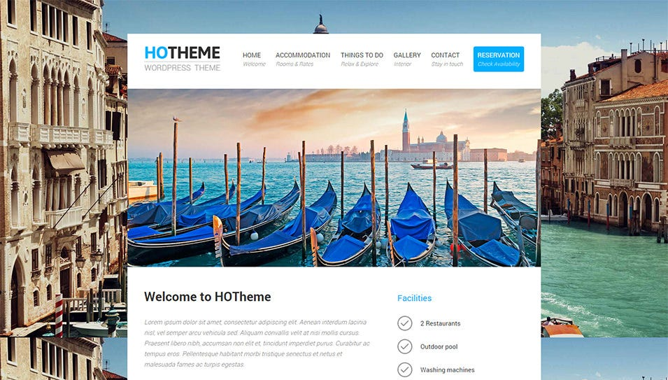 powerful hotel wordpress theme