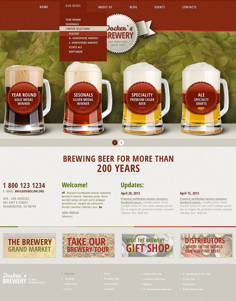 Premium Beer WordPress Theme