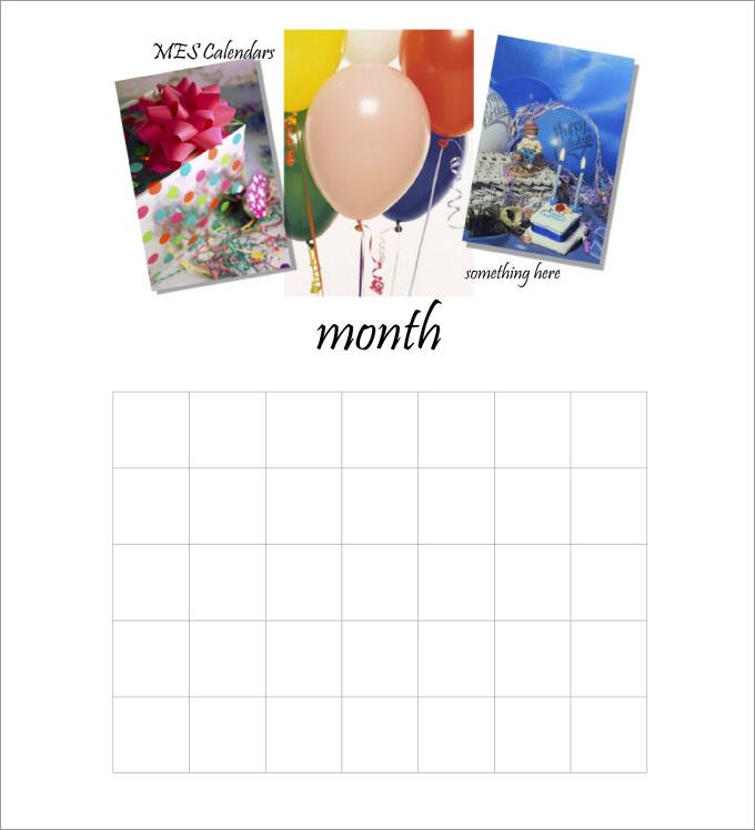 Birthday calendar calendar template free amp premium templates